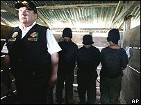 Supuestos miembros de Sendero Luminoso detenidos por la polic�a