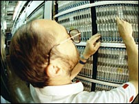 Engineer in a telephone exchange