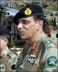 Gen Ashfaq Pervez Kayani, in Swat district, Pakistan 19 November 2007