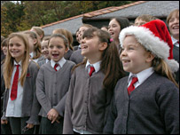 Children singing [Pic: Daily Post]