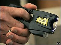 Taser gun on show