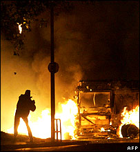 Rioter in 2005 (file pic)