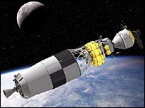 Ares V Earth Departure Stage (artist's impression). Image: Nasa