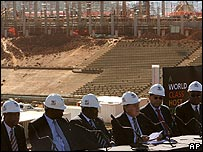 The World Cup organising committee at the planned new Johannesburg stadium