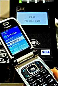 Nokia phone and payment terminal, PA