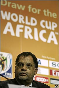 Danny Jordaan at the World Cup draw