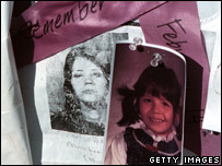 Images of one of the women who disappeared at a Vancouver memorial