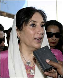 Benazir Bhutto, Karachi, 28 November 2007