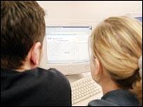 Students using internet