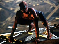 Scene from Spiderman movie