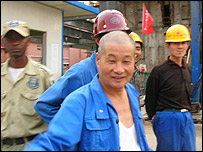 Chinese workers in Angola