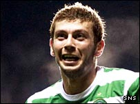 Massimo Donati celebrates his winner over Shakhtar