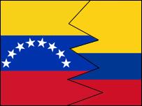 Banderas de Venezuela y Colombia