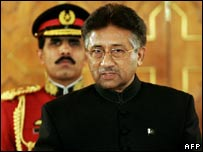 President Musharraf being sworn in (file pic)