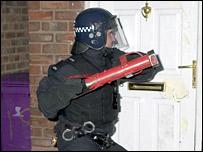 A raid in Liverpool