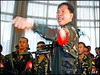 Philippine rebel troops in 2003
