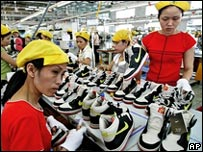 Worker in Vietnamese Nike factory