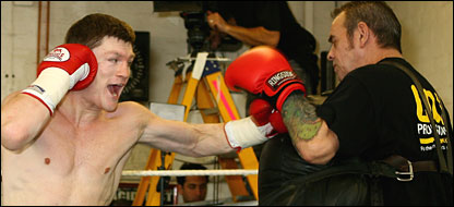 Ricky Hatton and trainer Billy Graham