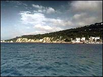 The southeastern coastline of the Isle of Wight