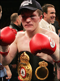 Hatton after the fight with Luis Collazo