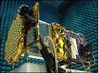 Galileo satellite. Image: BBC