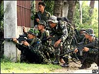 Philippines soldiers in the south of the country