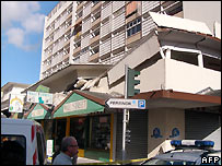 Damaged building in Fort-de-France, Martinique - 29/11/2007