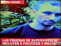 Video dado a conocer por la presidencia de Colombia que muestra a un ciudadano de EE.UU. sin identificar