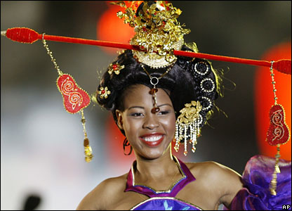 Malebogo Marumoagae - Miss Botswana - in China
