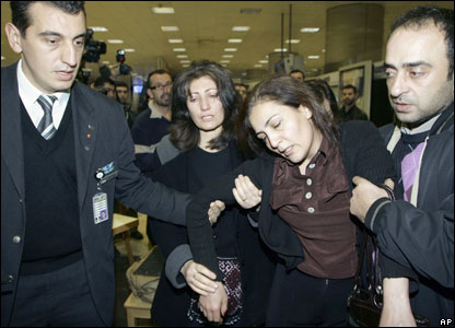Relatives of plane crash victims at Ataturk airport in Istanbul.