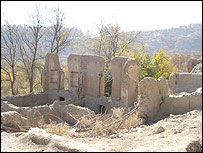 Ruins in the village of Istalif