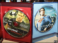 The Bourne Supremacy on HD DVD and Superman on Blu-ray