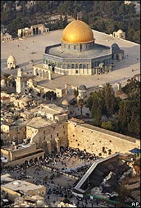 The Temple Mount / Haram al-Sharif site in East Jerusalem