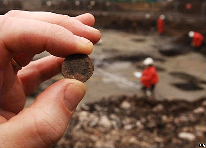 Ancient coin found at the Olympic site