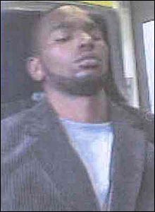 The mobile phone picture of the suspect released by BTP