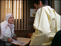 Counselling at an Aids clinic in Cairo