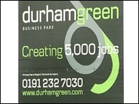 Durham Green Business Park sign