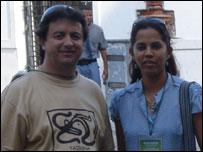 Andrés Delgado and Erika Bruges