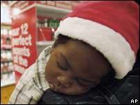 Snoozing child, AP