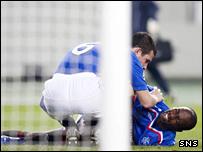 DaMarcus Beasley was injured against VfB Stuttgart