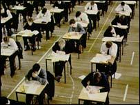 sitting exams