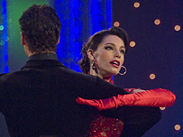 Kelly Brook on Stricly Come Dancing