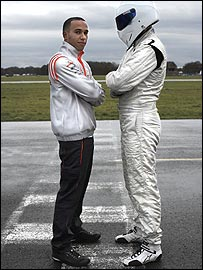 Lewis Hamilton and The Stig