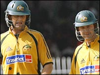 Adam Gilchrist and Ricky Ponting
