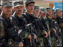 Members of an Afghan National Army commando during their graduation ceremony  (file pic)