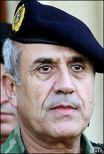 Lebanon's army chief Gen Michel Suleiman