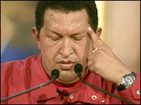 President Hugo Chavez conceding defeat - 3/12/07