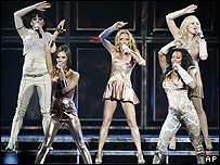 The Spice Girls perform in Vancouver