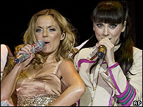 Geri Helliwell and Mel C