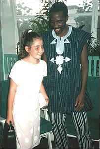 Becky Branford and President Thomas Sankara